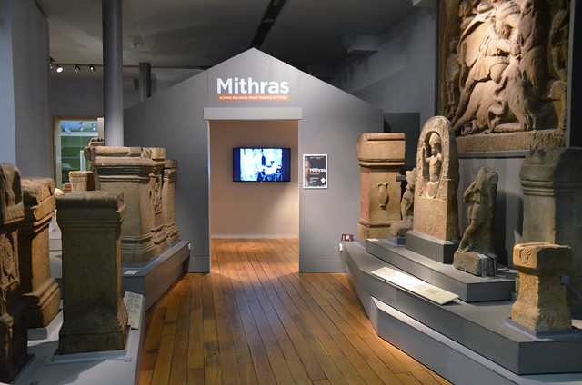 Mithras exhibit section, Great North Museum, Newcastle