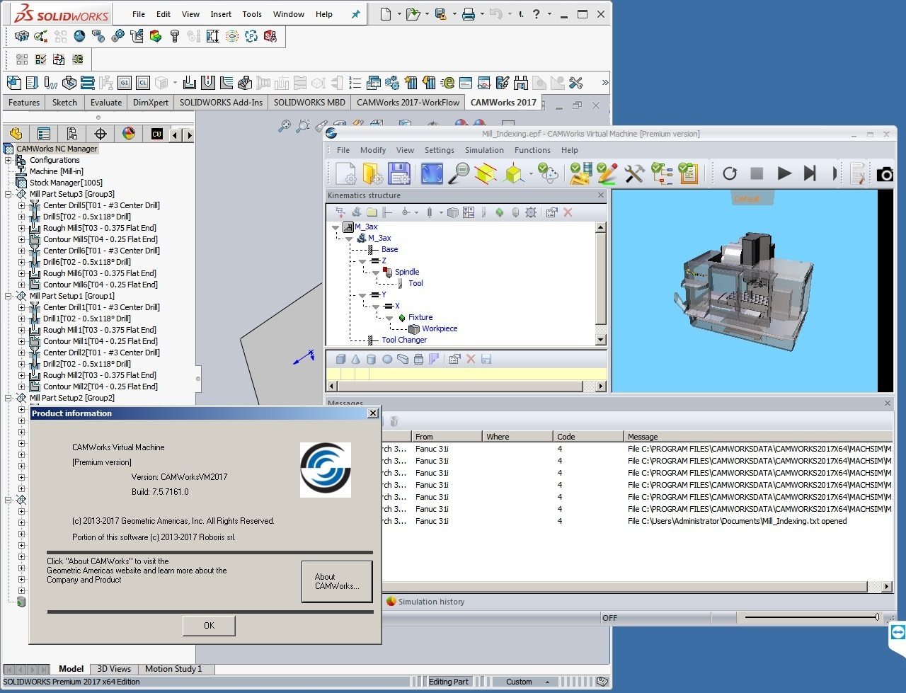 Machining with CAMWorks 2017 SP1 Multilang for SolidWorks 2016-2017 64bit full