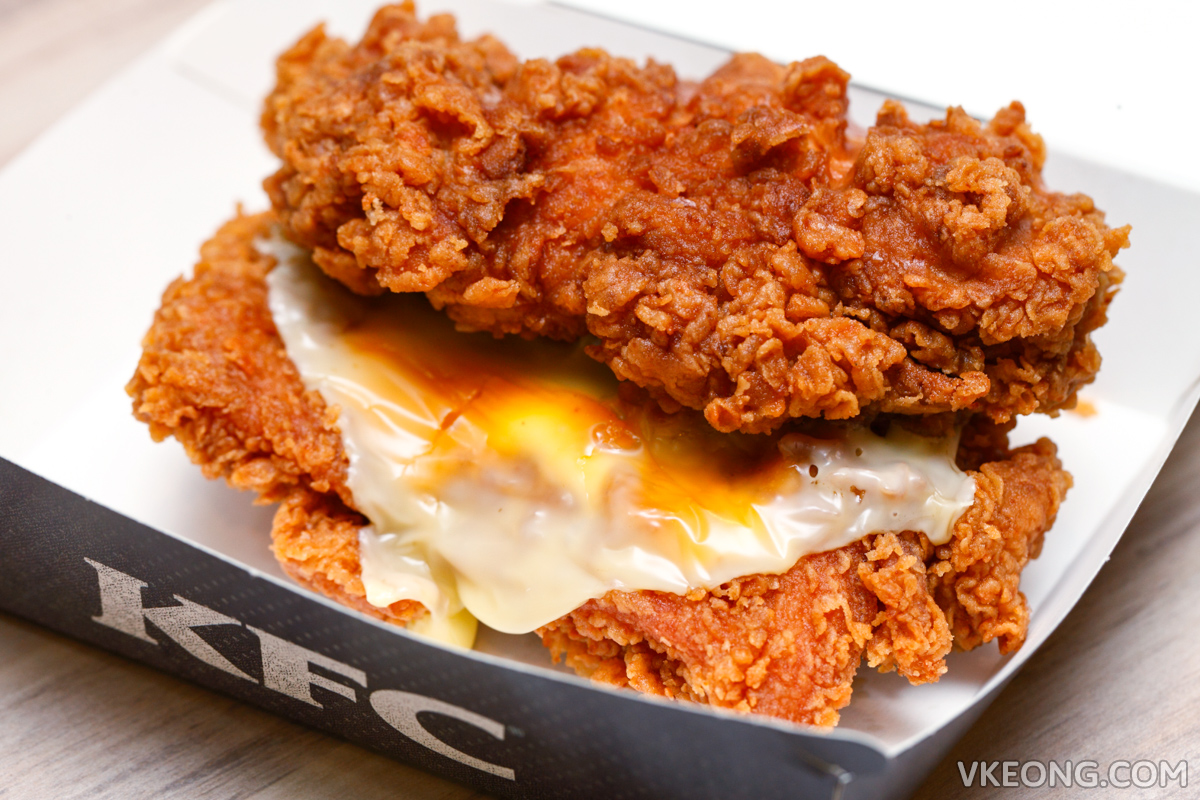 KFC Zinger Double Down Burger