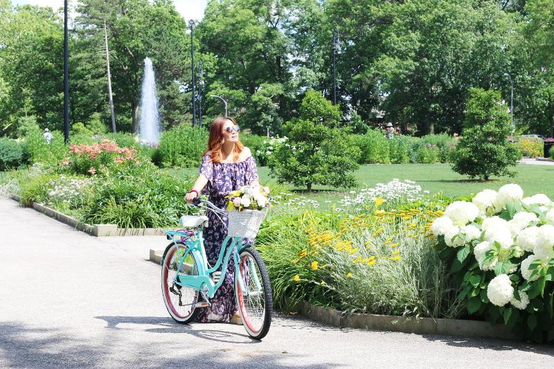 donna-morgan-floral-off-shoulder-maxi-dress-bike-3