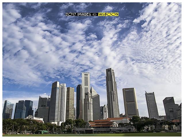 Cludy Sky Singapore Padang, Olympus E-P5, Lumix G Vario 12-32mm F3.5-5.6 Asph. Mega OIS