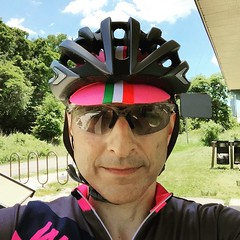 Cyling in Pink Selfie
