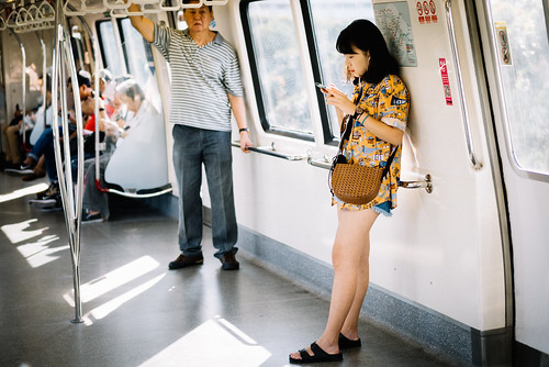 Girl and her phone