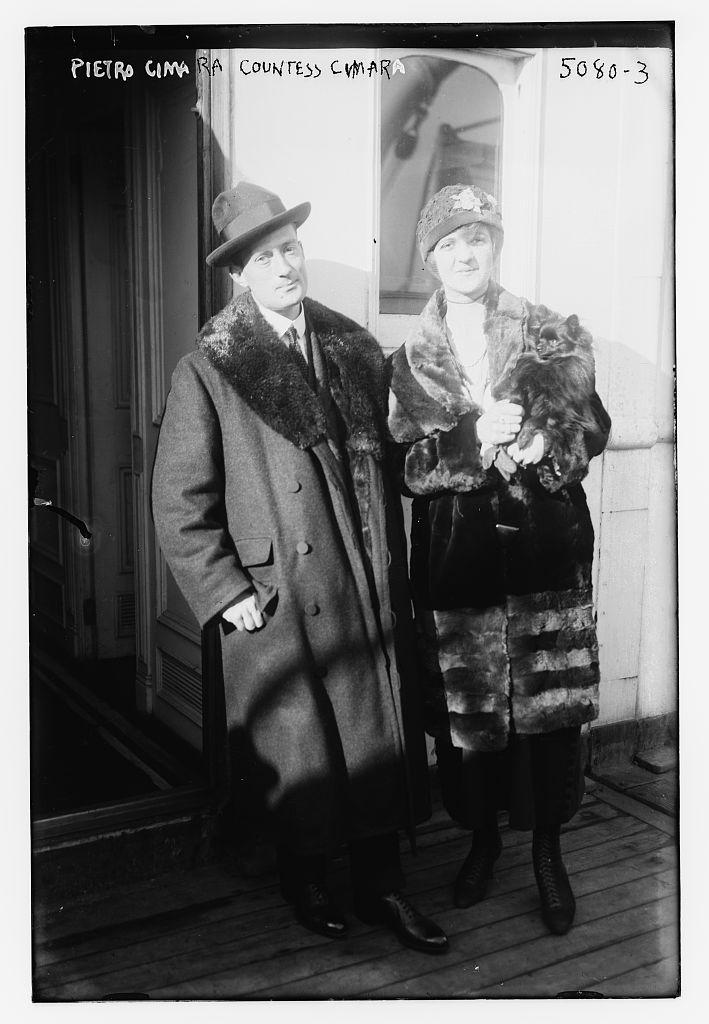 Pietro Cimara & Countess Cimara (LOC)