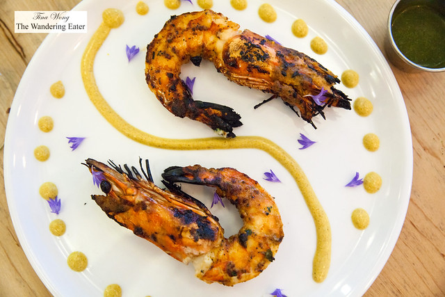 Fisherman's Catch tandoor - Jumbo prawns with roasted carom seeds