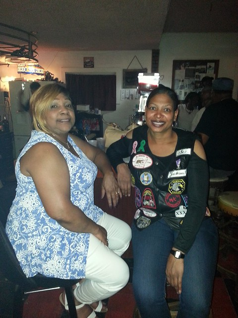 My Aunt & Me hanging out at All For One M/C in Springfield,  Il.