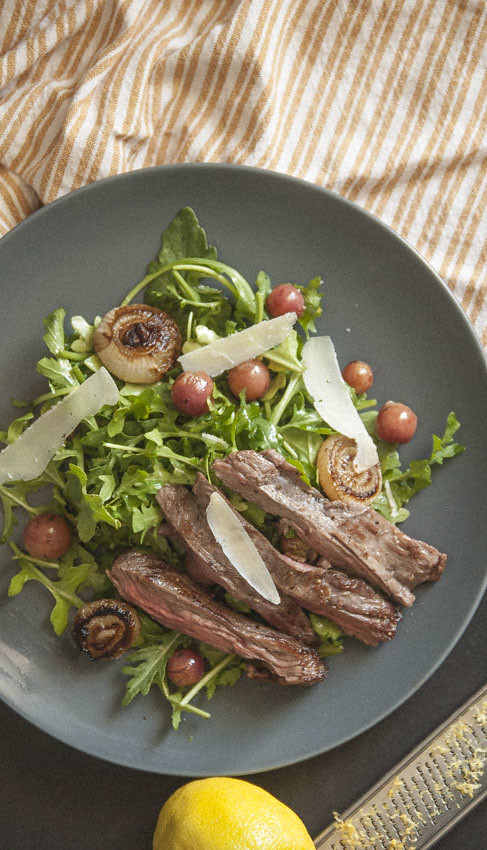 Thyme Roasted Grape Steak Salad 3