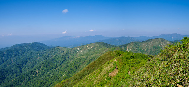 八間山へ連なる稜線@白砂山