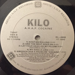 KILO:AMERICA HAS A PROBLEM COCAINE(LABEL SIDE-B)