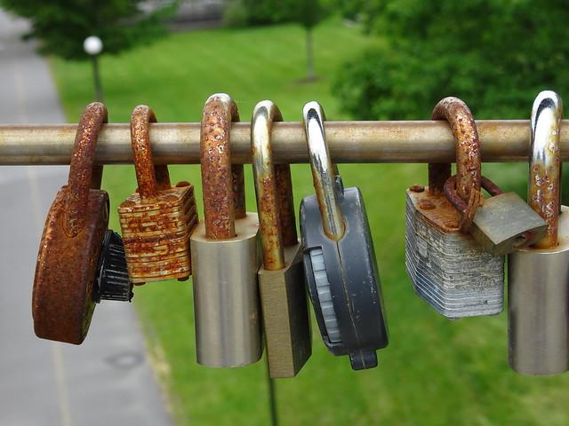 Rusted Love Locks