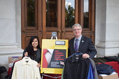 Rep. Ackert donates several gently worn suits to help veterans with employment.