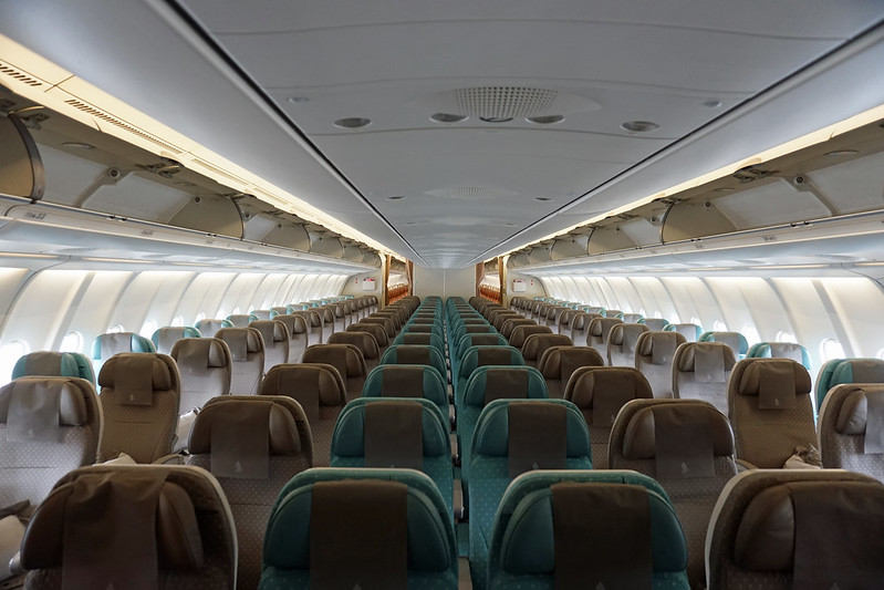 Singapore Airlines Economy Class Cabin
