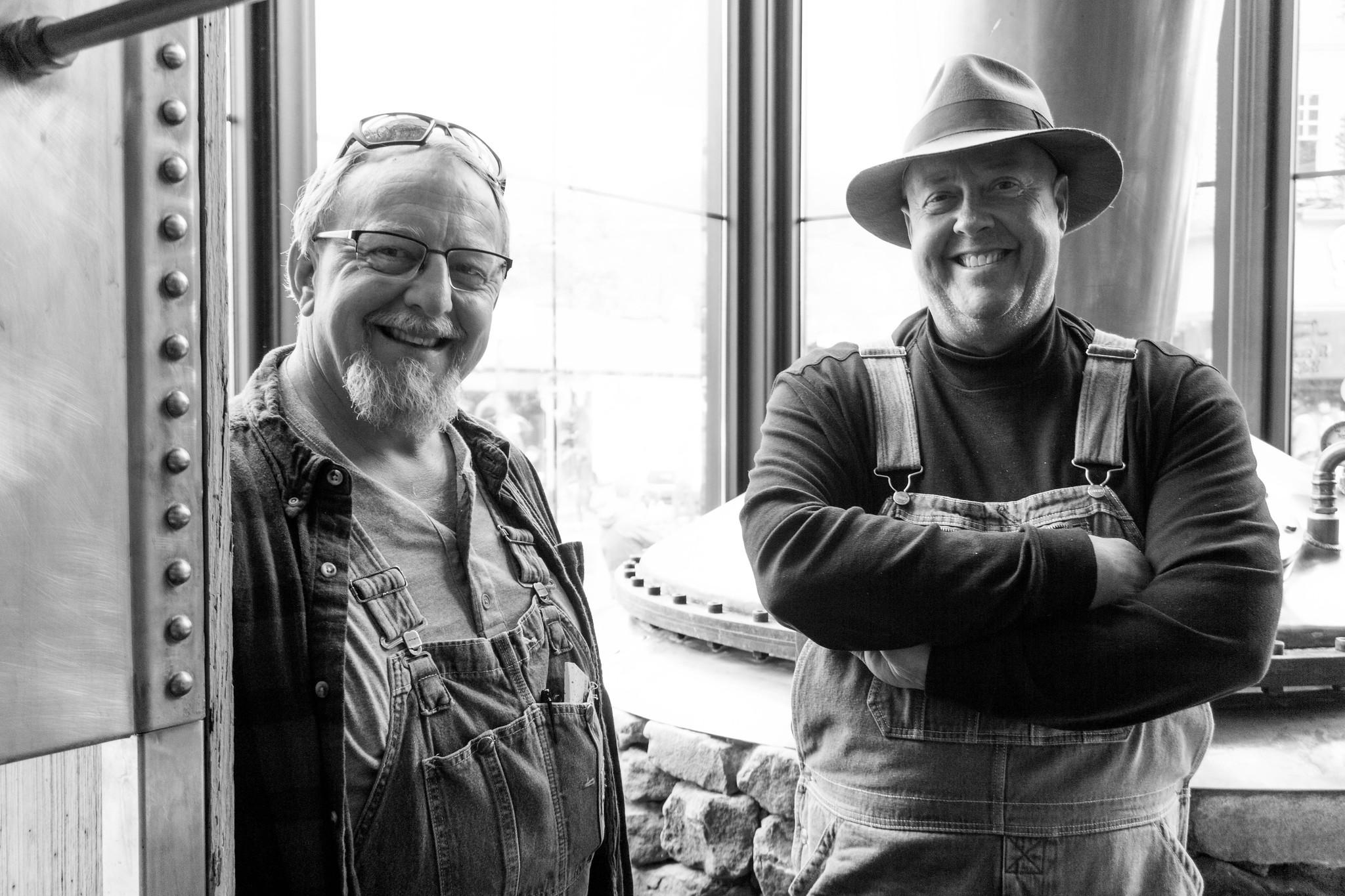 Digger and Mark from Moonshiners - Sugarlands Distilling Blogger Trip, Gatlinburg, Tenn., May 5 -7, 2017