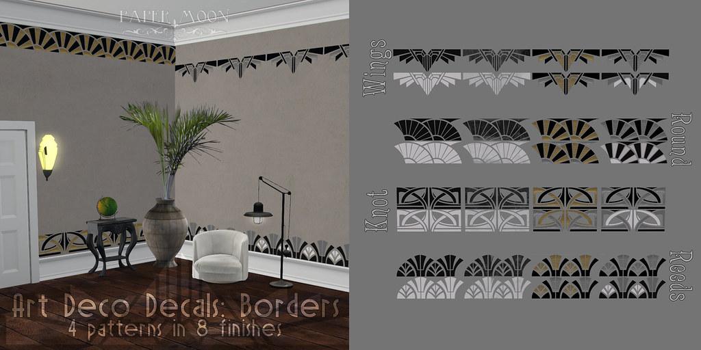 *pm* Art Deco Decals Borders advert - SecondLifeHub.com