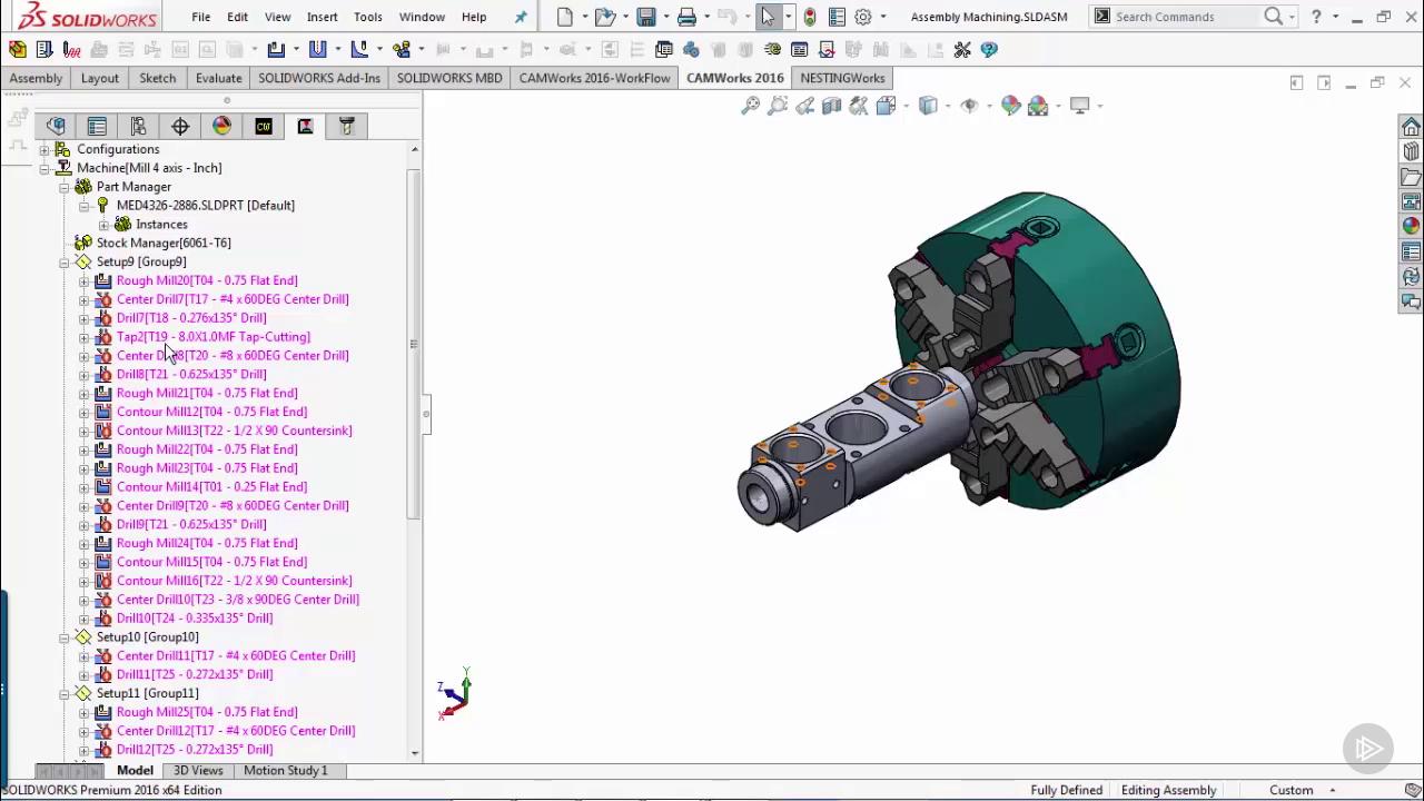 CAMWorks Fundamentals Milling 2.5 3 Axis training videos