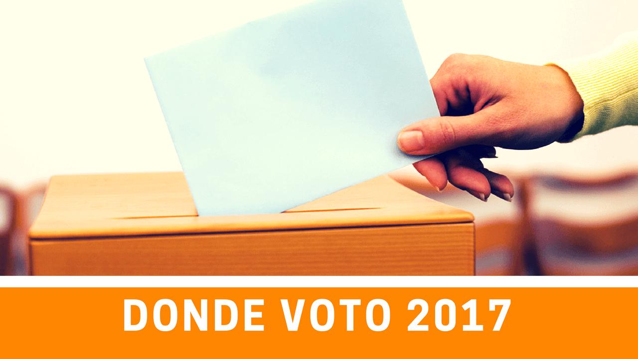 donde voto elecciones 2017