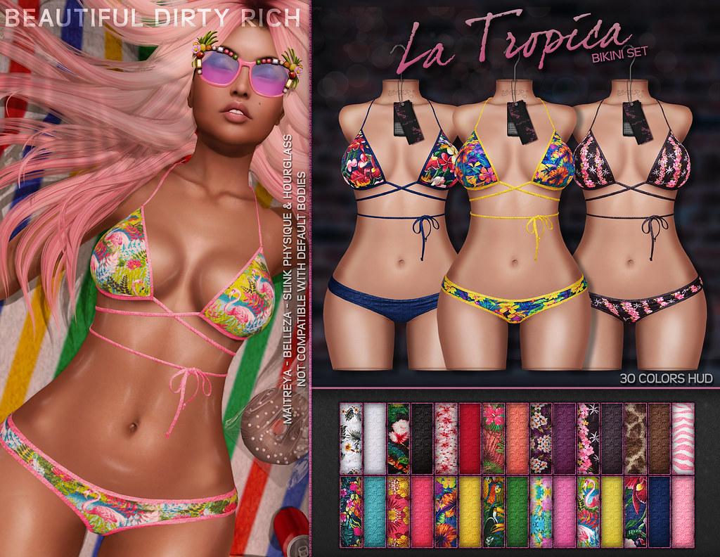 *B.D.R.* La Tropica Bikini Set - SecondLifeHub.com
