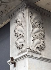 Carved Limestone Acanthus Leaf on South Laflin in Pilsen-Chicago