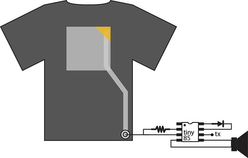 XL vl t-shirt schematic