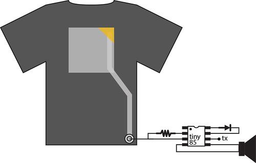 XL vl t-shirt schematic