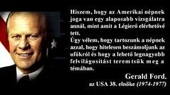 Gerald Ford egykori USA elnök az UFÓkról