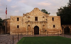 The Alamo st Sunset