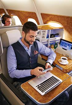Emirates uso de Wi-Fi-onboard (Emirates)