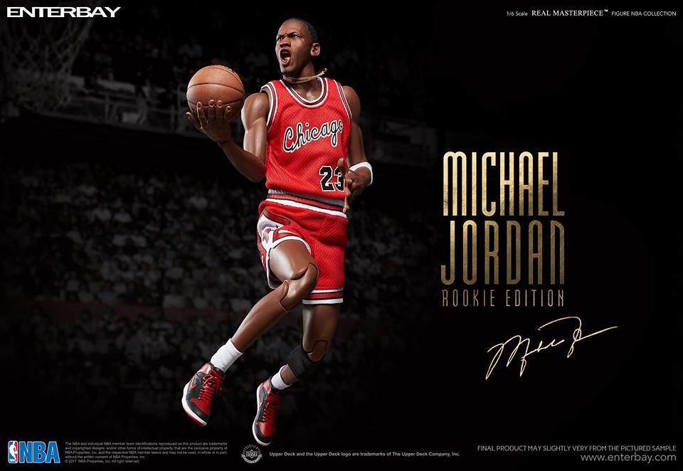 一個神的誕生!!ENTERBAY【麥可.喬丹菜鳥版】Michael Jordan Rookie Ver. 1/6 比例人偶作品