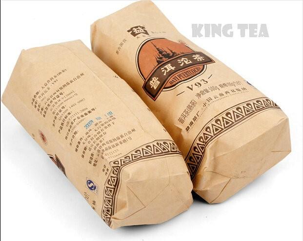 Free Shipping 2009 TAE TEA Dayi  V93 Tuo Bowl Nest YunNan MengHai Organic Pu'er Puerh Ripe Cooked Tea Shou Cha