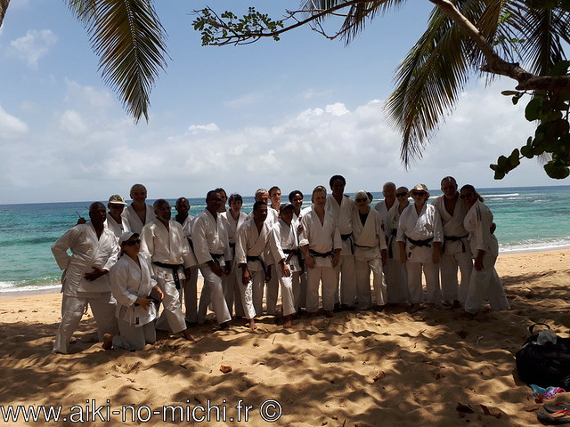 Ecole des cadres et aikido sur la plage avec Luc Mathevet 6e Dan
