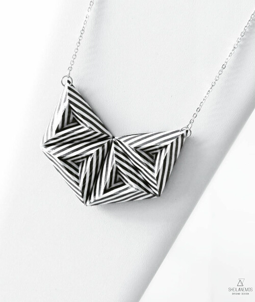 Folded Paper Necklace