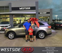 Congratulations Luis on your #Kia #Sorento from Orlando Baez at Westside Kia!