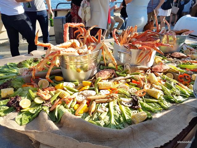 King crab legs display