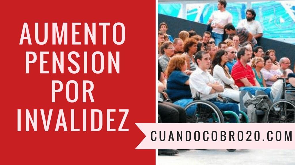 aumento Pensiones No Contributivas por invalidez
