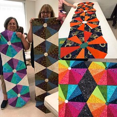 Students work yesterday at mid Appalachian quilt retreat in my ROY class. They were awesome and a joy to teach! #quiltretreat #maq