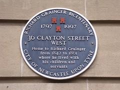 Photo of Richard Grainger black plaque