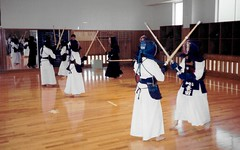 High School Students Learning Kendo, Kaga, Japan