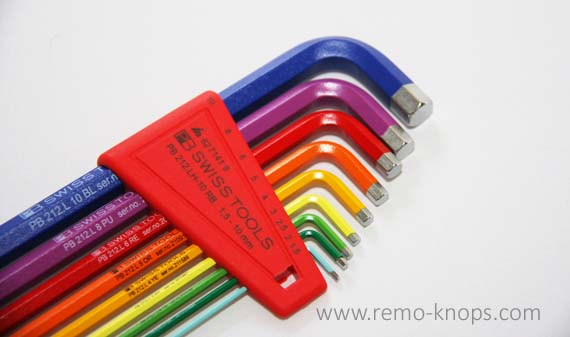 PB Swiss Tools 212LH-10 RB - Rainbow long hex key set 7537
