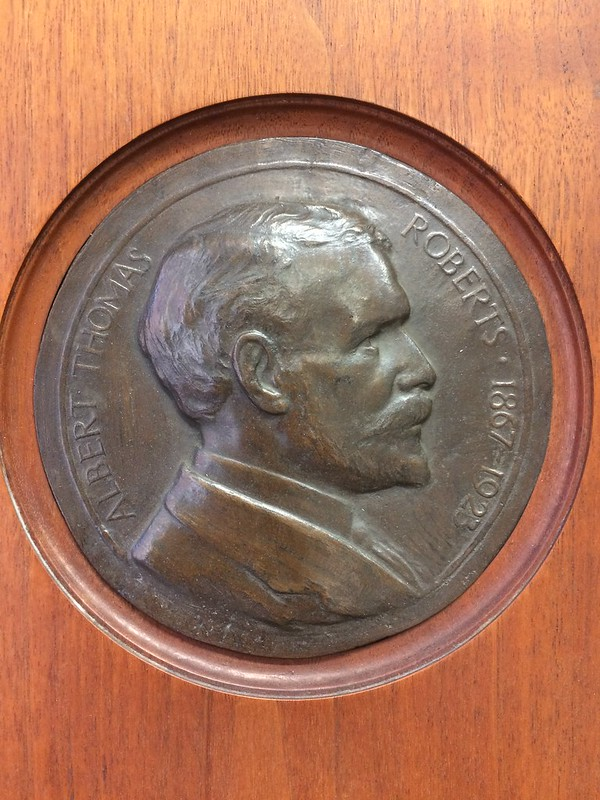 Albert Thomas Roberts portrait medallion