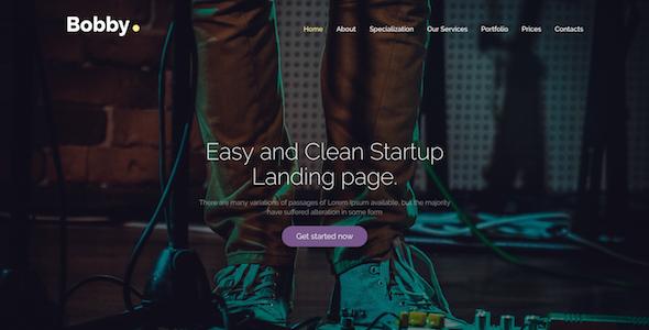 Bobby – Creative Service Landing Page Drupal 8 Theme