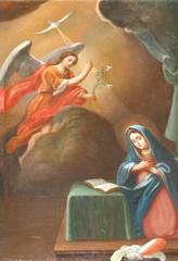 San Francisco de Asis Mary is Visited by the Angel gabriel