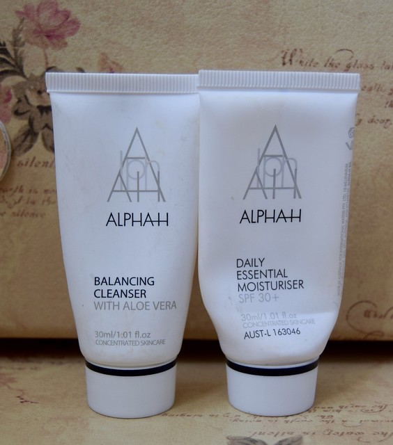Alpha H Balancing cleanser and Daily essential moisturiser