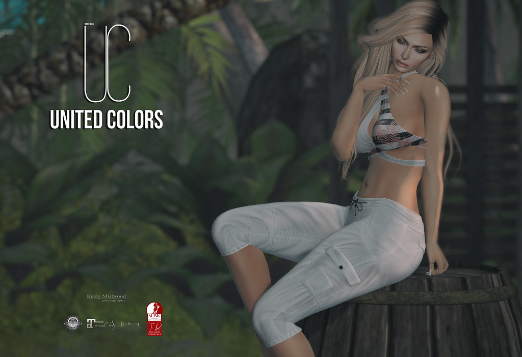 United Colors UC Cargo Shorts available in 9 colors at Uber Event June 25. - SecondLifeHub.com