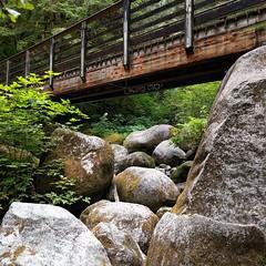 #bridge #footbridge #trail #hiking #river #rocks #boulder #PNW #statepark
