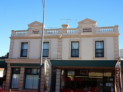 Kapunda. The Kidman Buildings used as offices for Sir Sidney Kidman and built in 1909. Part was used as the bank of NSW where he banked his money