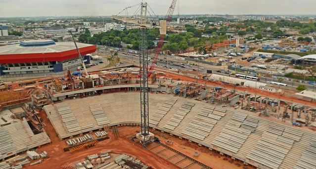 Empreiteira Andrade Gutierrez, que construiu o estádio Arena da Amazônia (foto), firmou quatro acordos de leniência - Créditos: Divulgação Andrade Gutierrez