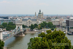 Budapest, view on Danube river and embankement