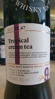SMWS 85.47 - Tropical cream tea