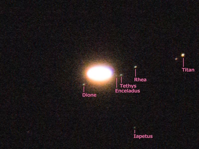 土星の衛星 (2017/7/7 21:22)