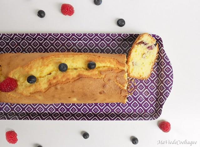 cake citron fruits rouges sans gluten sans lactose